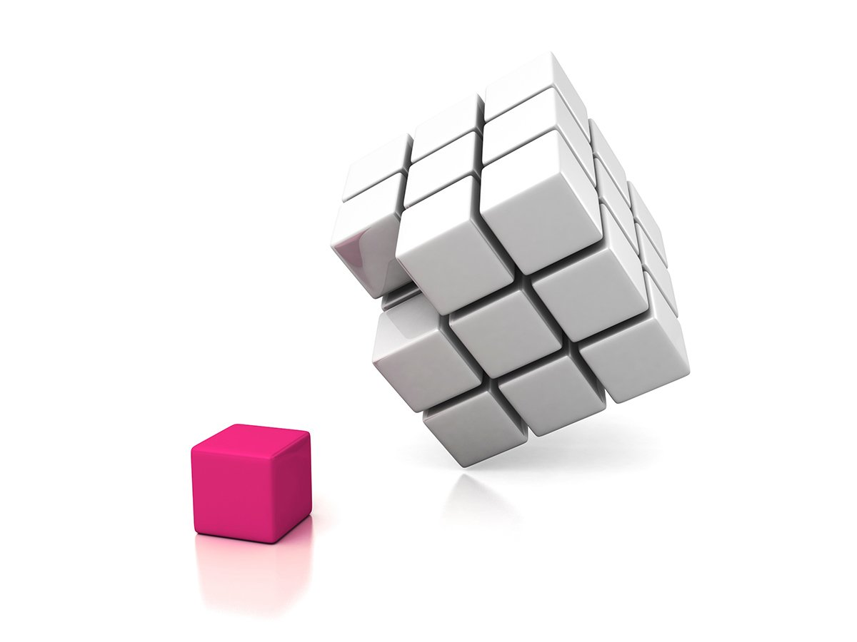 a pagifly cube being integrated into a larger cube