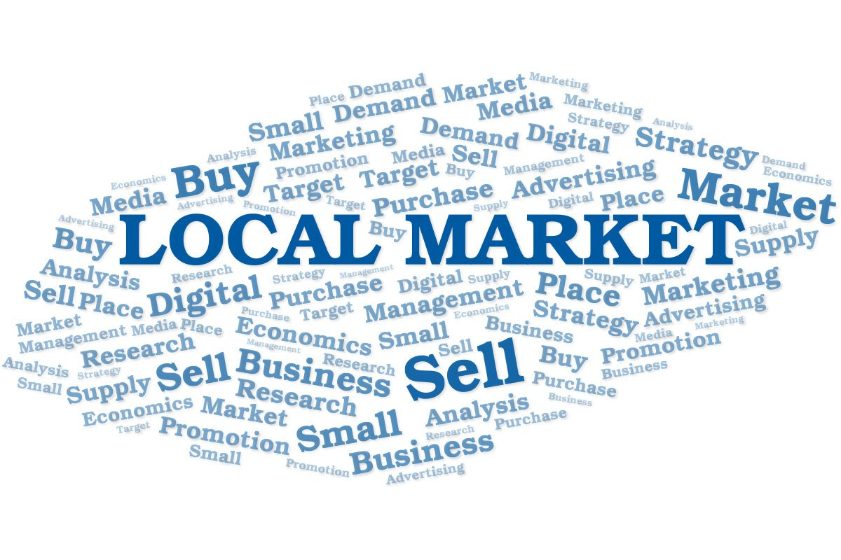 local business online word cloud